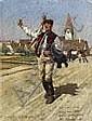 Heinrich Lessing, Schwälmer Bauer vorm Dorf, Heinrich Lessing, Click for value