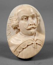 Elfenbeinmedaillon Karl IX.