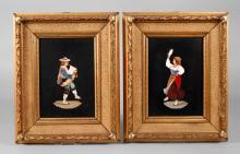 Zwei Bilder Pietra Dura