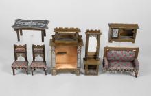 Puppenstuben-Salonmöbel Jugendstil