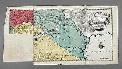 Tobias Konrad Lotter, Karte Schwarzmeerregion mit der Krim, um 1769