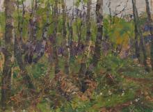 Elisabeth von Eicken, attr., Im Birkenwald