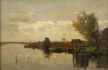Willem Johannes Weissenbruch, Morgen am Kanal