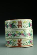 Chinese Republic Famille Rose Porcelain Stacking Box