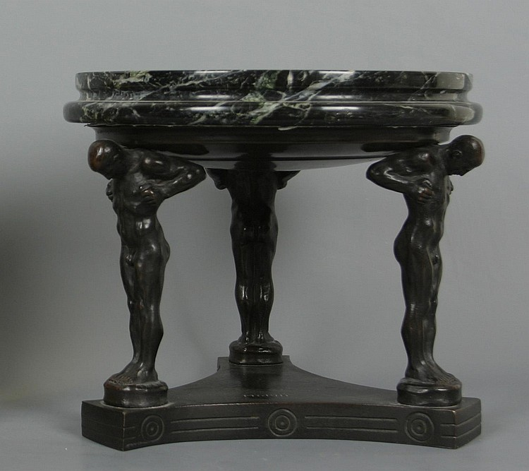 MORIN Georges (*1874) Centrepiece Patinated cast