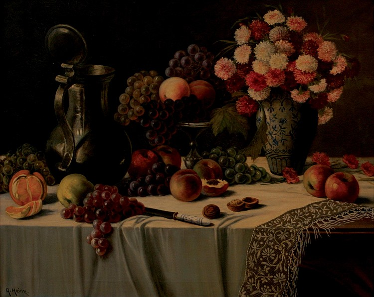 HEINE Adalbert Johann *1850) Still-life with fruit