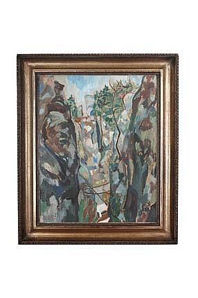 ERDELYI Ferencz (1904 Budapest - 1959) Rocks Oil