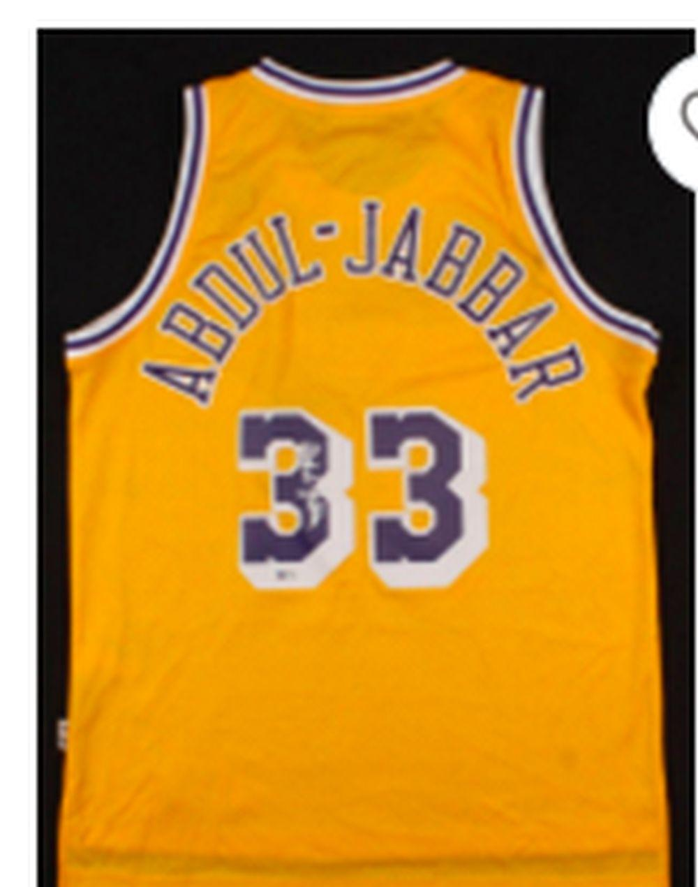 Sold Price: Kareem Abdul Jabbar signed LA Lakers jersey - July 6 ...