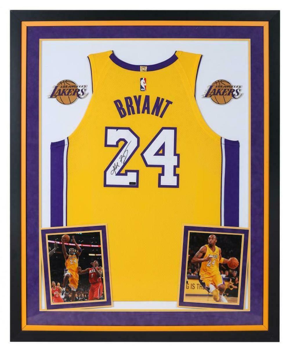 Sold Price: Kobe Bryant signed and Custom Framed jersey - June 4 ...