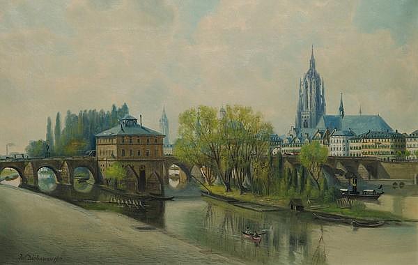 Julius Dielmann (1862-1931). Ansicht von Frankfurt
