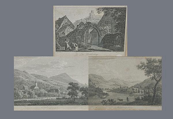 Carl Philipp Fohr (1795-1818), 2 Ansichten von