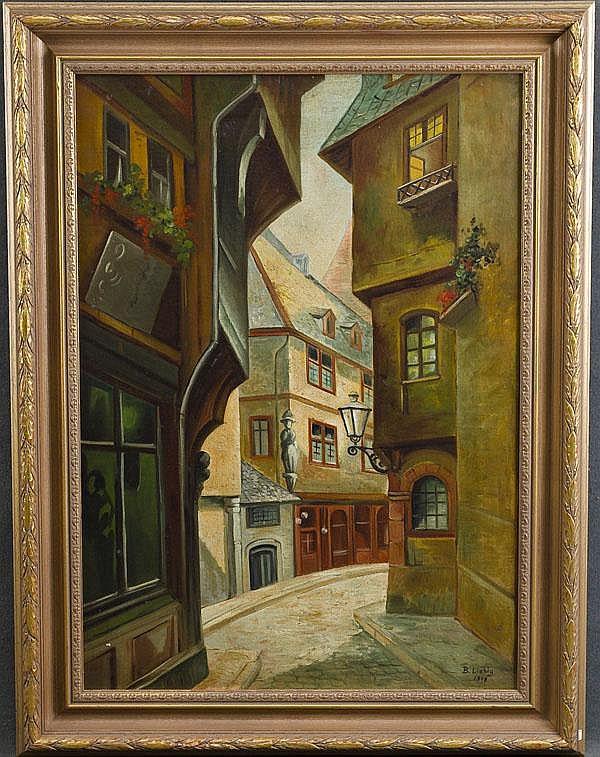 Bernhard Liebig (geb. 1873). Altstadtgasse in