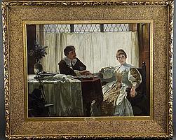Max Ebersberger (geb. 1852). Paar beim