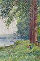 Eugène Verdyen (1836-1903). Seeuferlandschaft mit, Eugène Verdyen, Click for value