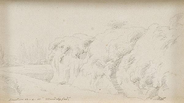 "Louis Coblitz (1814-1863). ""Dirmstein Mandelpfad"
