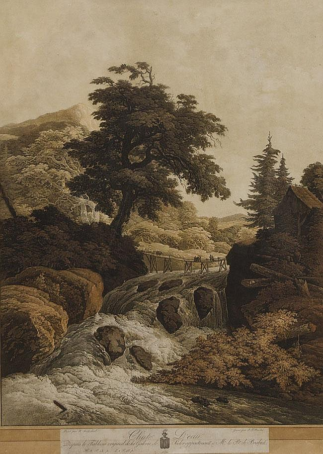 Johann Gottlieb Prestel (1739 - 1808). Brücke über