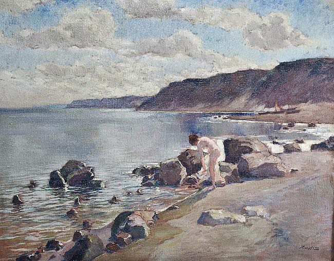 Wilhelm Hempfing (1886-1948). Meeresbucht mit