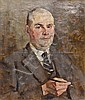 Oskar H. Hagemann (1888-1984). Herrenporträt., Oskar Hagemann, Click for value