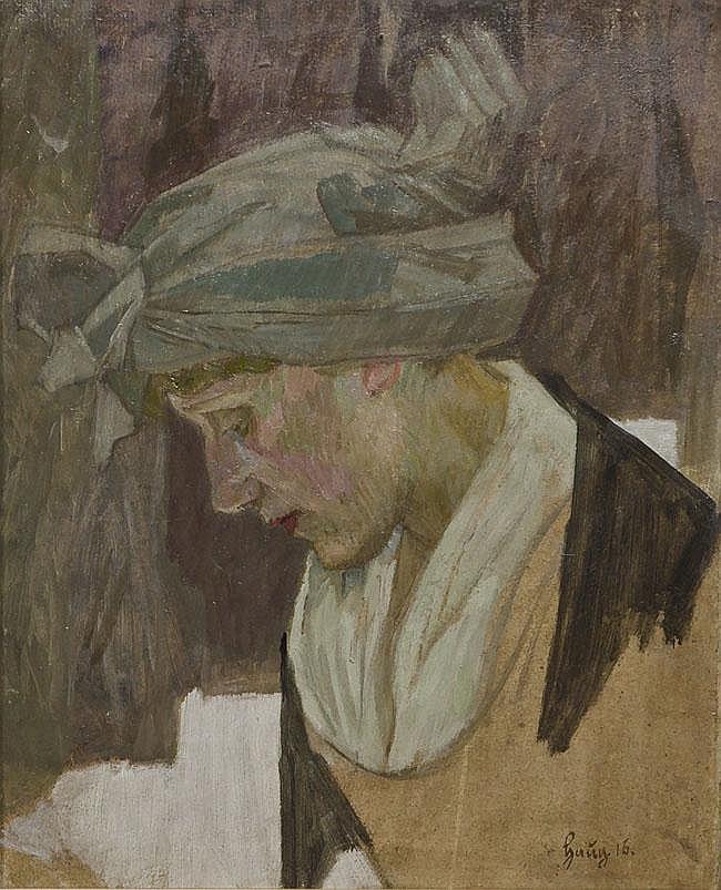 Robert von Haug (1857-1922). Portrait einer Dame