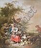Eines von zwei Gemälden des Künstlers Johann, Johann Conrad Seekatz, Click for value