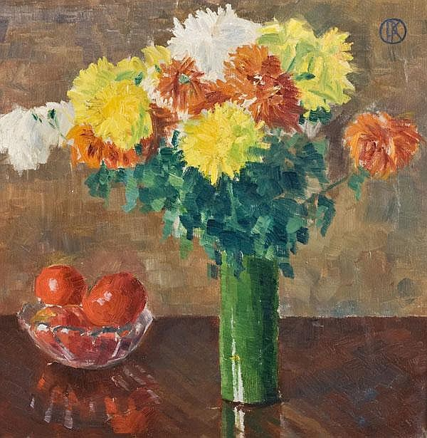 "Paul Kühn (1885-1981). ""Chrysanthemen"