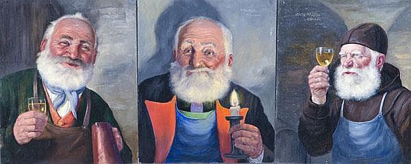 Fritz Müller (1913-1972). 3 verschiedene Winzer. 3
