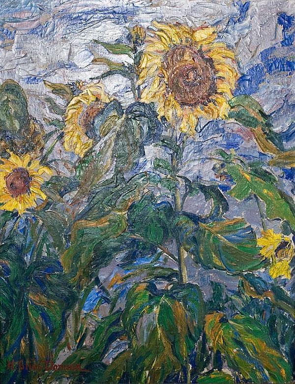 """Helene Gries-Danican (1874-1935). """"Sonnenblumen"""