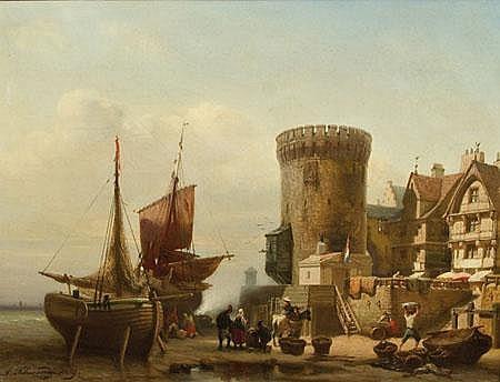 Albert Schwendy 1820-1902 Ansicht des Hafens von