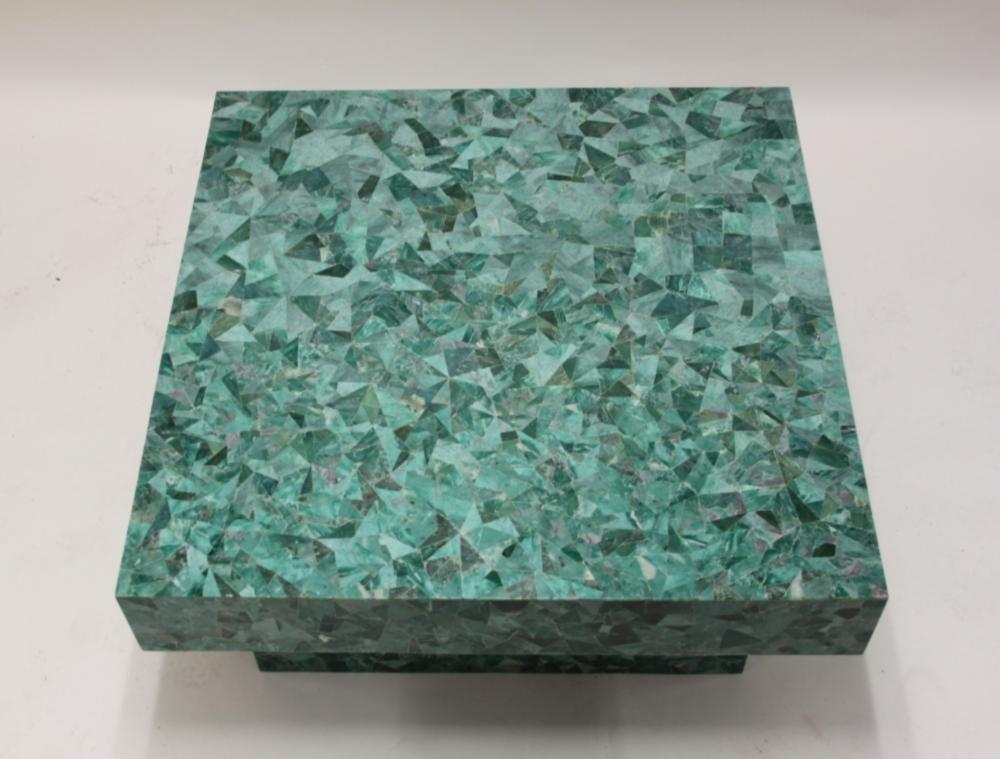MCM Green yx Mosaic Floating Cube Coffee Table CA B7