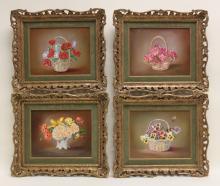 (4) Elizabeth Fisher 1871-1953 Floral Still Life