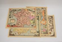 (4) Ernest Dudley Chase (1878-1966) Signed Maps