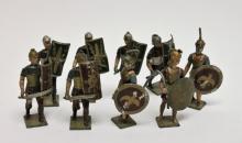 (9) Vintage Lead Toy Soldier Crusaders