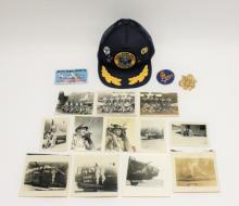 WWII Era 450th Bomber Pilot & Nose Painting Photos