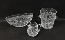 Waterford Pitcher, Champagne Bucket & Large Bowl