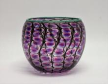 Philabaum Reptilian Art Glass Vase Signed 2009
