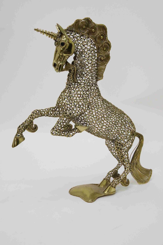 Luciano Bustamante, Mexico Polished Brass Unicorn