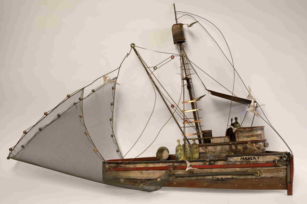 Curtis Jere ca 1975 Tuna Fishing Boat Sculpture