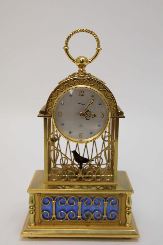 Imhof Mantle Clock w Singing Bird Automaton