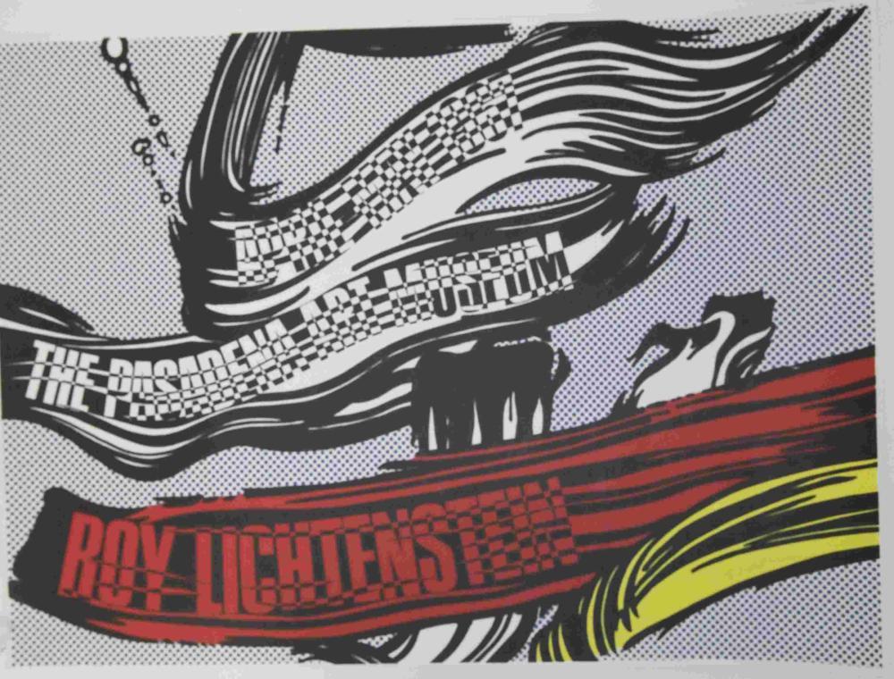 Roy Lichtenstein 1967 Pasadena Museum Poster w Sig