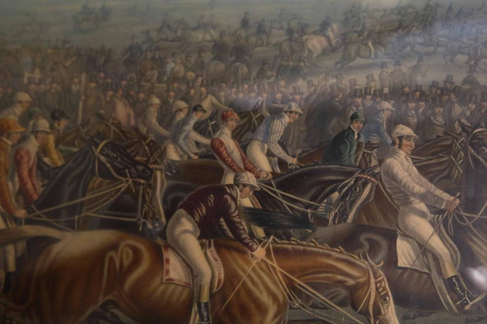 """19c Litho Charles Hunt """"The Start for The Derby"""""""