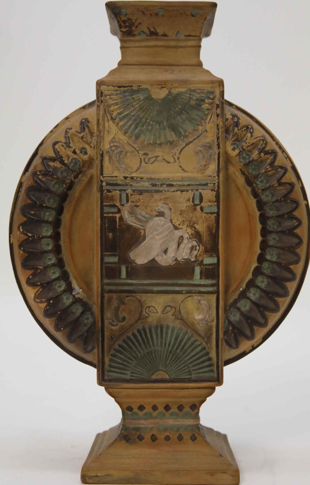 Goldscheider Egyptian Revival Urn Form Vase
