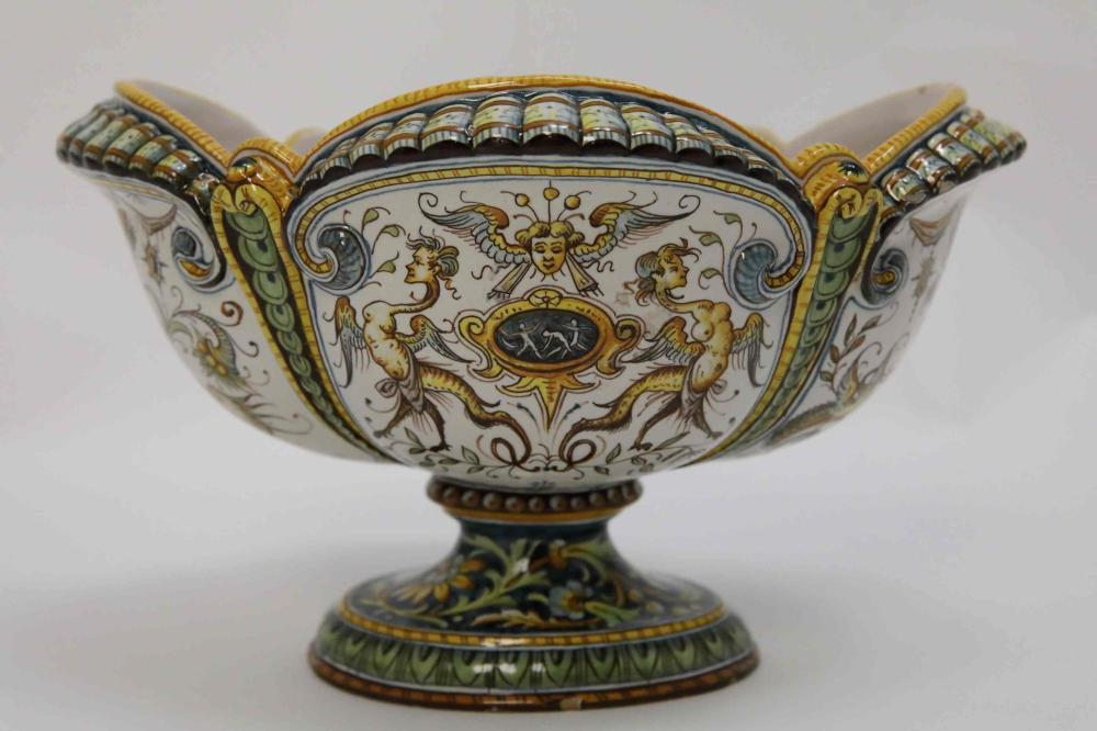 Italian Mythological Theme Faience Majolica Bowl