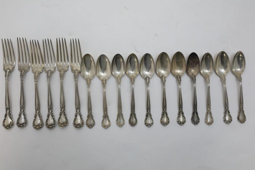 (17) Gorham Sterling Sliver Spoons & Forks