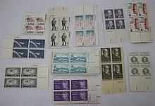 40 U.S. Plate Blocks, 1954-64 All Different