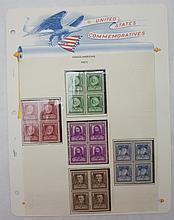Scott 864-868 (Famous American Poets) Blocks 4