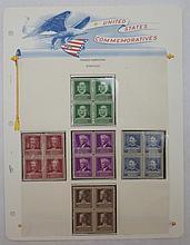 Scott 874-878 (Famous American Scientists) Blocks4