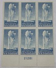 Scott 744 (Yellowstone) Plate Block, Unused