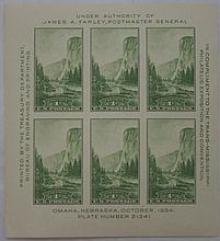 U.S. Scott 751 (Trans-Mississippi) Souvenir Sheet