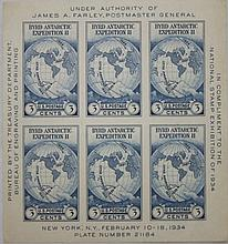 U.S. Scott 735 (Byrd Antarctica) Souvenir Sheet