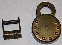 Edwards Mfg. No-Key Pushbutton Combination Padlock
